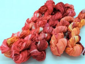Seidenbänder rot orange