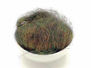 Polyesterfasern, grün-braun