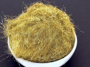Polyesterfasern, gold