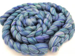 Kammzug aus Merino verschiedene Blautöne