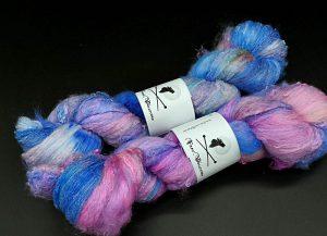 Silksheet in blau und pink