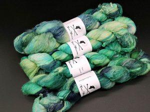Silksheet in grün und türkis