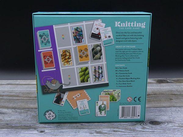 Spielbox von Knitting the Card Game von hinten